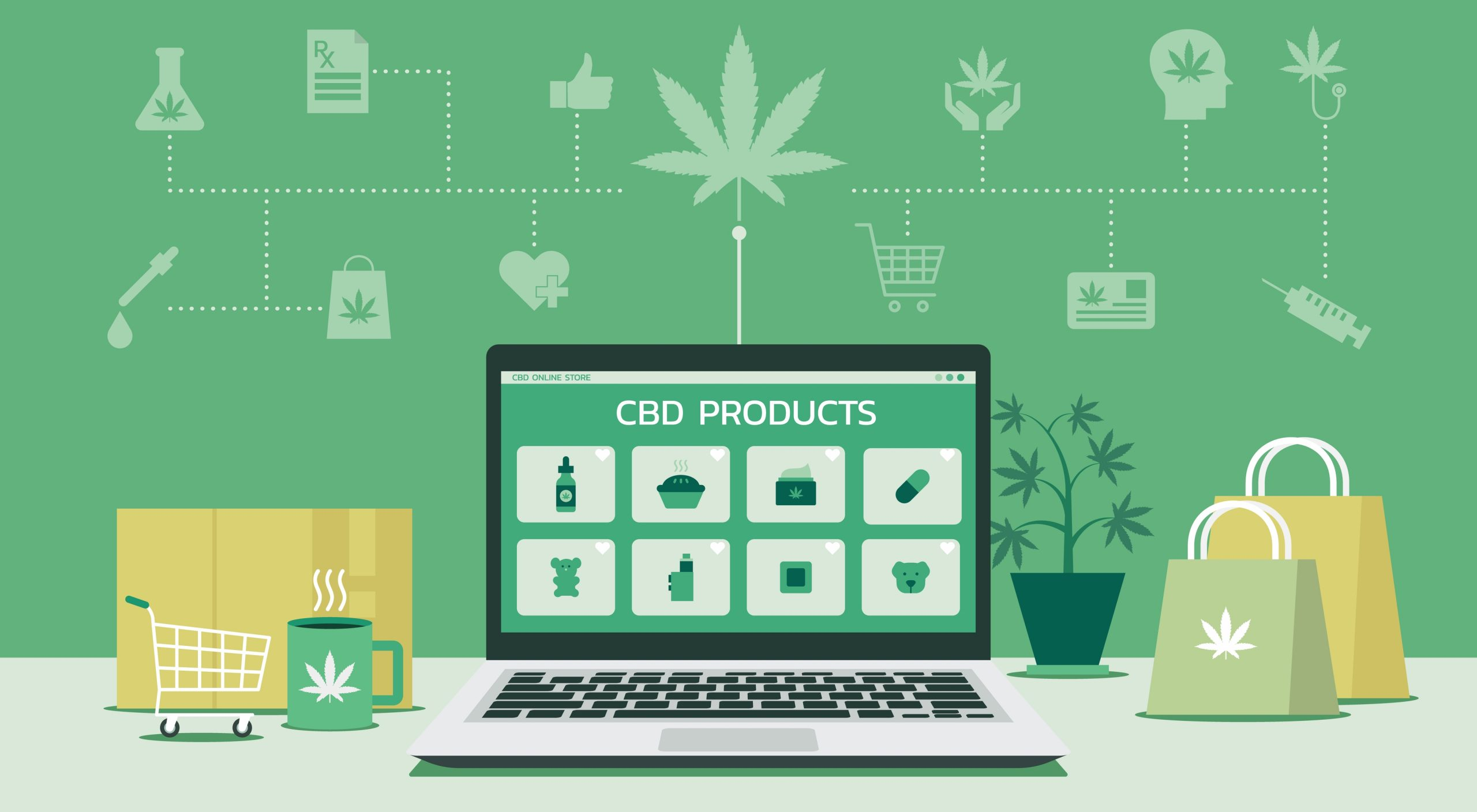 Medical,Marijuana,Products,Online,Shopping,Store,Web,Page,On,Laptop